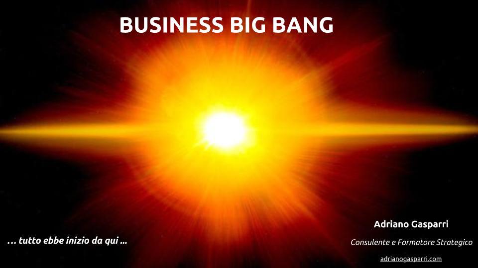 Business Big bang: tutto ebbe inizio da qui